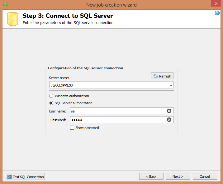 Step 3: Connect to SQL Server