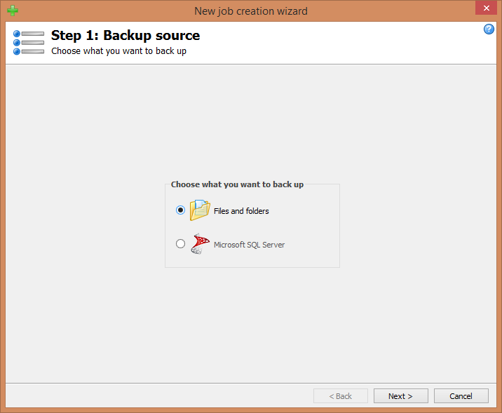Step 1: Backup source