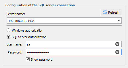 Remote connection with the SQL Server